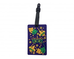 Mardi Gras Party Theme Silicon Luggage Tag