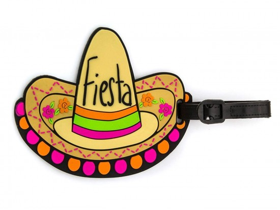 Multi Fiesta Sombrero Silicon Luggage Tag