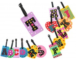 Letters Silicon Luggage Tag 14pc pkg
