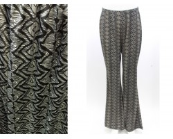 Gray Zig Zag Pattern Bell Bottoms