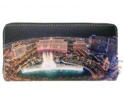 Multi Bellagio Las Vegas Waterfall Zipper Wallet