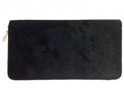Black Velvet Zipper Wallet