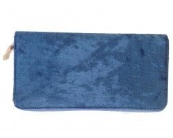 Montana Blue Velvet Zipper Wallet