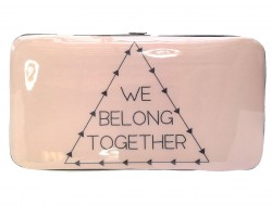 Light Dusty Pink WE BELONG TOGETHER Clutch Wallet