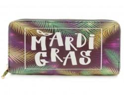 Mardi Gras Leaves Zipper Wallet