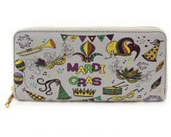 Mardi Gras Theme Party Zipper Wallet