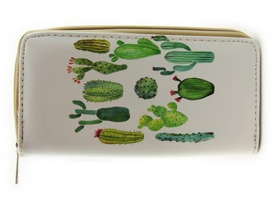 Green Cacti Zipper Wallet