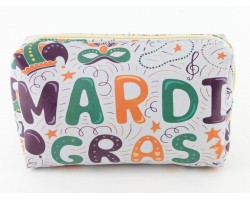 Mardi Gras Theme Print Vinyl Bag Accessory