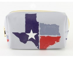 Texas State Map Flag Vinyl Bag Accessory