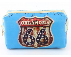 Turquoise Route 66 Sign Oklahoma Vinyl Bag Accessory