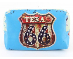 Turquoise Route 66 Sign Texas Vinyl Bag Accessory