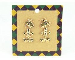 Mardi Gras Mask 3 set Post Earrings