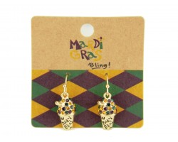 Mardi Gras Hook Earrings