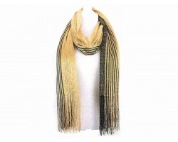 Black Gold Shimmer Oblong Scarf