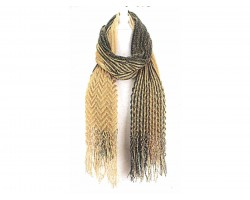 Black Gold Corrugated Oblong Scarf