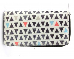 Multi Triangle Pattern Zipper Wallet