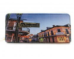 Bourbon Street New Orleans Zipper Wallet