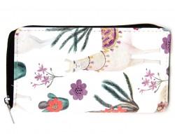 Multi Cactus Llama Zipper Wallet