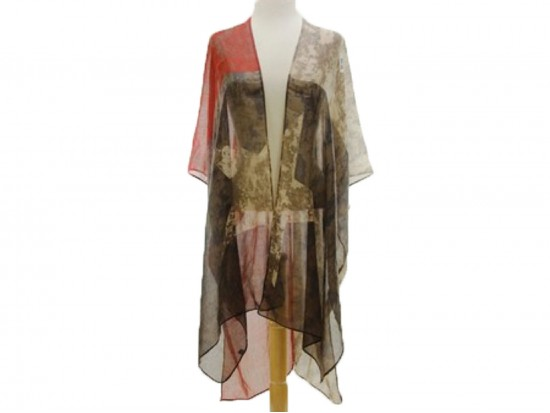 USA Large Star Distress Flag Theme Kimono