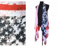 USA Flag Bright Distress Theme Kimono