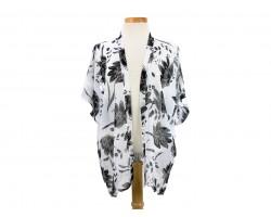 White Floral Pattern Kimono