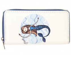 Blue Water Mermaid Pisces Zipper Wallet