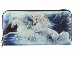 Multi Unicorns Zipper Wallet