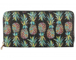 Multi Pineapple Pattern Zipper Wallet