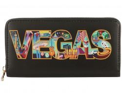 Black Multi VEGAS Zipper Wallet