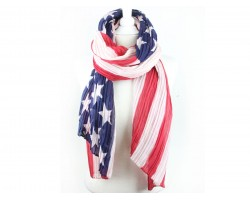USA Flag Bright Oblong Scarf