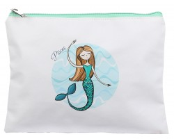 Multi Mermaid Zipper Makeup Bag