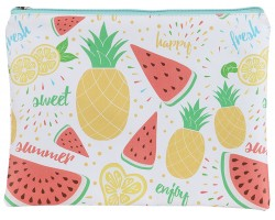 Multi Fruit Pattern Zipper Makeup Bag