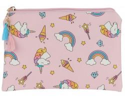 Multi Unicorn Rainbow Pattern Makeup Bag
