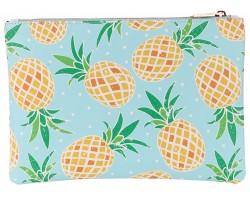Yellow Pineapple Pattern Zipper Makeup Bag