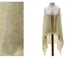 Beige Plain Sleeveless Long Tail Cardigan