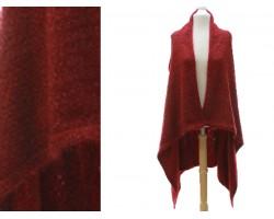 Maroon Plain Sleeveless Long Tail Cardigan
