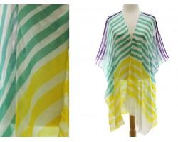 Mardi Gras Color Stripe Kimono