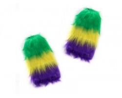 Mardi Gras Leg Warmers Boot Topper