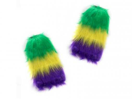 Mardi Gras Leg Warmers Boot Topper
