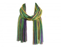 Mardi Gras Abstract Open Cut Oblong Scarf
