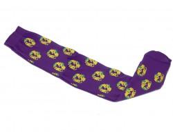 Mardi Gras King Cake Long Purple Socks
