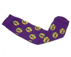 Mardi Gras King Cake Short Purple Socks