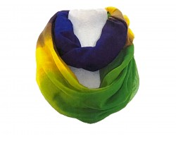Mardi Gras Colored Lightweight Infinity Scarf