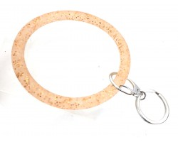Gold Glitter Silicon Bangle Keychain