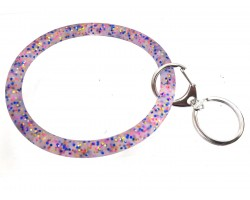 Multi Colored Glitter Silicon Bangle Keychain