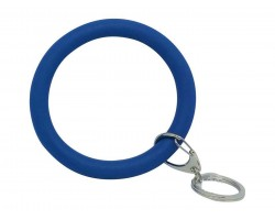 Blue Silicon Bangle Key Chain