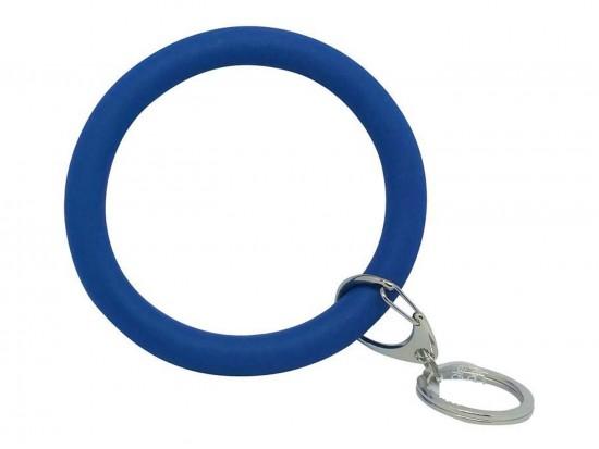 Blue Silicon Bangle Key Chain