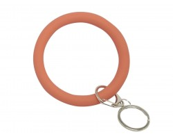 Coral Silicon Bangle Key Chain