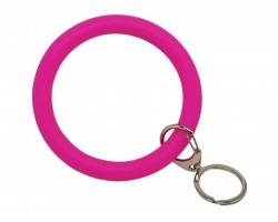 Hot Pink Silicon Bangle Key Chain