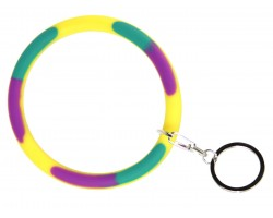 Mardi Gras Silicon Bangle Key Chain